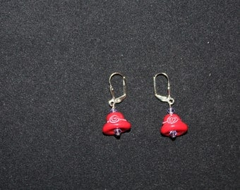 Red Hat Earrings