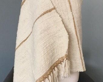 HAND WOVEN Merino Wool Wrap