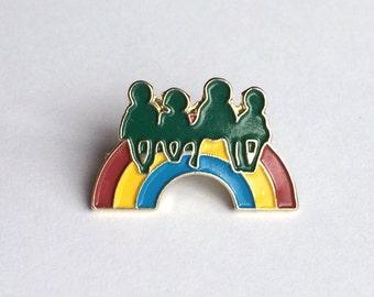 Vintage pin Rainbow Children