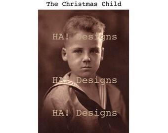 Vintage Photo - Handsome Boy - Portrait of a Boy - Instant Download