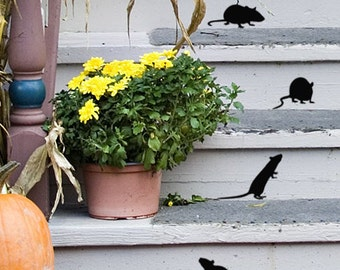 Mouse stickers Mouse decor Mouse wall decal Farmhouse fall decor Door decor Halloween Window decals Kitchen Pantry vinyl decal Mice decals
