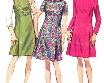 1960s Dress Pattern Half Size Vintage Simplicity Sewing Jumper Uncut Women's Misses Size 20. 5 Bust 43 Inches