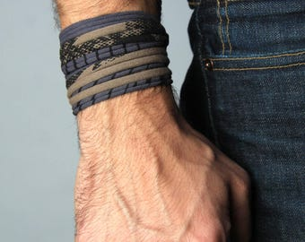 Festival, Cuff Bracelet, Wrap Bracelet, Son to Father Gift, Wife To Husband Gift, Daughter to Father Gift, Dad, Son, For Men