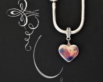 Gli Amanti European Style  photo portrait Charm/pendant