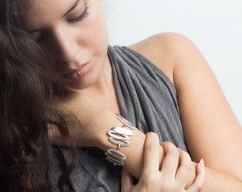 Sterling Silver Bracelet, Bracelet for Her, Silver Bracelet Women, Statement Bracelet, Sterling Silver Bracelet Handmade, Free Shipping...