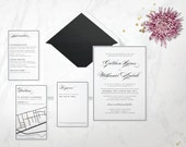 The 'Madelyn' Wedding Invitation; Calligraphy Invitation, Traditional Invite, Classic Wedding, Formal Invitation, Vintage Wedding, Printable