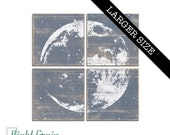 Rustic Full Moon Print - Astronomy Wall Art - Custom Made Moon Print Collection 32x32