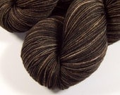 Hand Dyed Yarn - Sock Weight 4 Ply Superwash Merino Wool Yarn - Bark Tonal - Sock Yarn, Knitting Yarn, Fingering Yarn, Brown Semi Solid