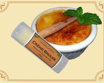 CREAME BRULEE Lip Balm made with Shea Butter - .15oz Oval Tube