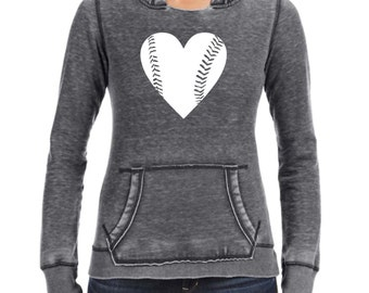 Baseball Mom Shirts -  Slouchy Sweatshirt - Heart Baseball - Baseball Mom Jersey - Game Day Shirt - Gameday - Mom Softball Shirts