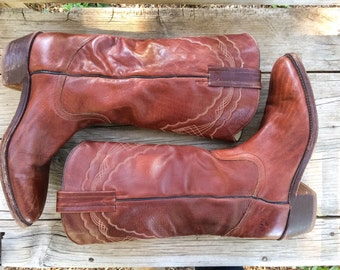 Vintage Frye Boots for Men Tall Brown Leather Boots