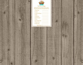 Noahs Ark, Noah's Ark Price is Right Baby Shower Game, Noah's Ark The Price is Right/Printable Baby Shower