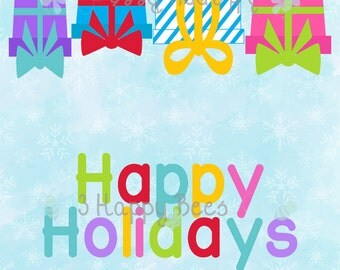 Happy Holidays Treat topper