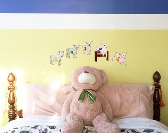 Counting Sheep Decals-Set of 5
