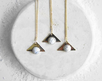 RISE Marble + Brass Necklace
