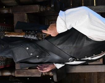 2 Inch Leather Pirate Pistol Baldric