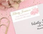 Tutu Return Address Labels, Printable Address Labels, Tutu Baby Shower, Tutu Birthday, Tutu Mailing Labels, Pink and Gold Glitter, Ballerina