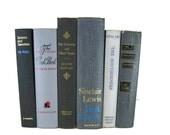 Gray  Black Vintage Decorative Books , Gray Book Home Decor ,  Vintage books for Wedding Decor