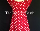 Disney Minnie Mouse Dress/Disney Bounding/Costume/Adult/Misses/Women's /Casual Cotton Pull Over Dress