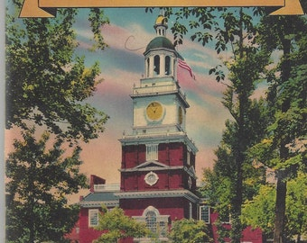 Philadelphia The City of Brotherly Love Vintage Booklet, C1948