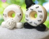 Custom Donut Wedding Cake Toppers - Signature design by The Republic of Cute