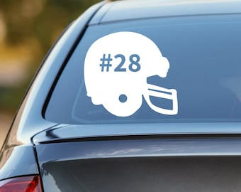 Football Decal, Personalized Football Decal, Football Car Decal, Sports Decal, Laptop Sticker, Laptop Decal, Vinyl Decal, Football Sticker