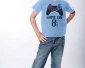 Gamer Birthday Shirt - Personalized Tee for Boys or Girls - Video Game Truck Party - 4th, 5th, 6th, 8th Birthday Shirt (Choose Your Number)