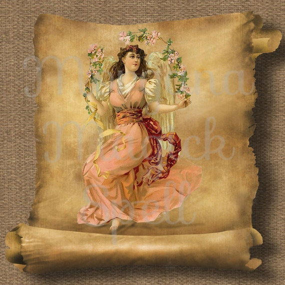 Vintage Angel Royalty Free Clipart