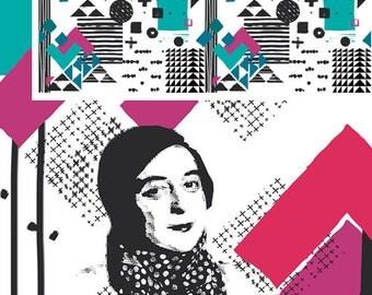 Avant Garde Simultaneous, Katarina Roccella, Art Gallery Fabrics, 100% Cotton Fabric, AVG-18912
