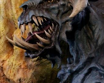 OOAK Huge Kaiju Shadowflash Monster Large Scale Sculpture Godzilla