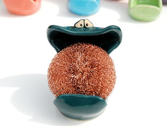 SpongeMonster - Teal Green - GREAT for holding your sponge or soap on the sink in your kitchen
