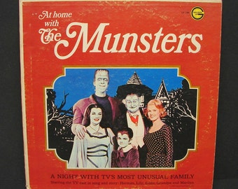 Vintage 1964 At Home With The Munsters Golden LP Vinyl Record