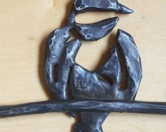 Steel Birds Blacksmithed - Decorative Wall Sculpture
