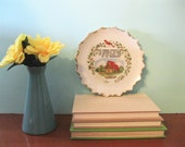 Vintage Collectible Ceramic Plate Housewarming Lodge Cabin Cottage Wall Decor