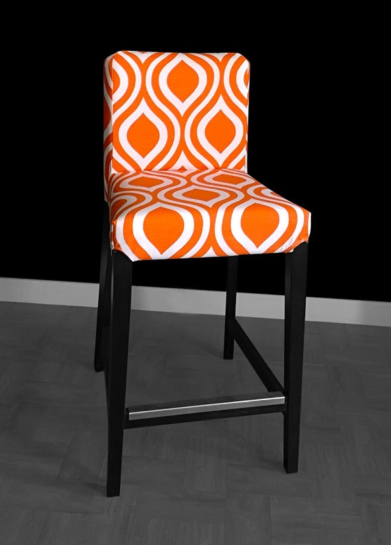 Orange Indian Style Ikea Bar Stool Cover Orange Henriksdal