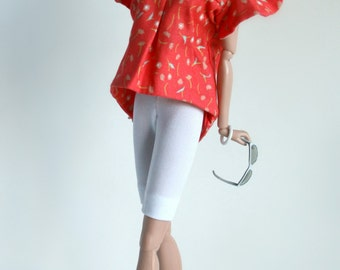 Top and Shorts for Barbie Silkstone Fashion Royalty Dolls