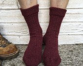 Man knitted socks, wool and silk socks for him, made to order