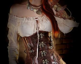 steampunk underbust corset goth corset romantic corset
