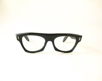 Vintage thick black Victory Suntimer 50s eyeglasses frames