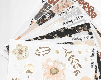 Fall in Love Weekly  Vertical Kit Planner Stickers for use with ERIN CONDREN LIFEPLANNER