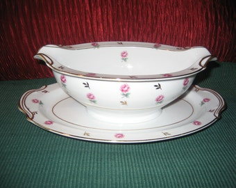 Noritake Rosalie - Porcelain Fine China Gravy Boat - Mid Century 1950s