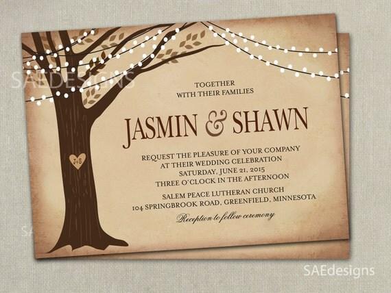Elopement Wedding Invitations: Tree Wedding Invitations Invites Elopement Save By