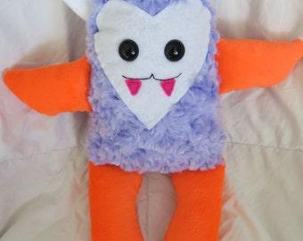Plush Monster, Handmade Plush Monster, Fuzzy Monster, Faux Fur Monster Plush, Handmade Plushies, Handmade Monster, Handmade Toy, Vampire
