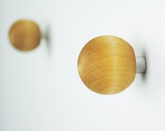 SALE! Round Wall Hooks / Wooden Wall Hooks / Children's Wall Hooks