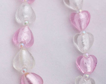 Pink and White Heart Bracelet