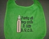 Party At My Crib Baby Bib