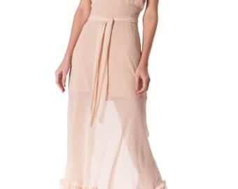 Vintage 1930s Couture Bias Cut Silk Negligée Size: XS/S
