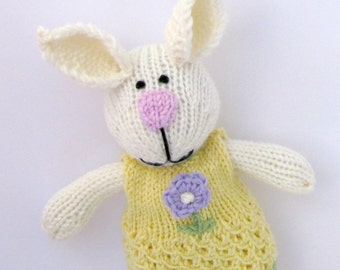Plush Bunny - Bunny Doll - Bunny Toy - Knit Rabbit Toy - Knit Toy - Knit Stuff Bunny - Plush Doll - Kids Toy - Child Toy - Bunny Kids