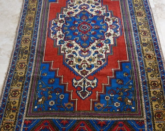 6 by 11 rug / Vintage Oushak Rug / Vintage Rug / Turkish Oushak Rug / Distressed Rug / Oushak Rug / Large Vintage Rug / Low pile Oushak