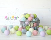 4CM Wool Felt Balls - Pastels Mix and Match - 100% Wool Felt Balls - (4cm/40mm) - Pastel Felt Balls - Jumbo Felt Balls - Big Pom Poms